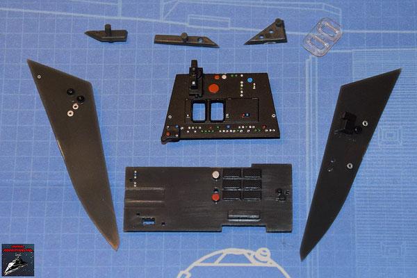 DeAgostini Bau deinen X-Wing Ausgabe 62 Instrumententafeln und Anbaudetails (Kunststoff)