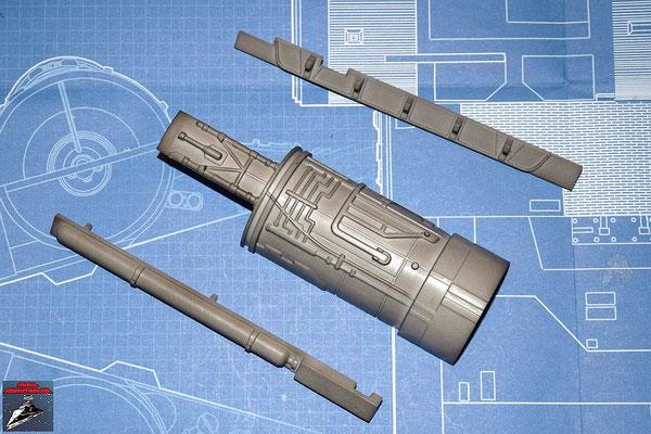 DeAgostini Bau deinen X-Wing Ausgabe 17 Maschinenabdeckung und inneres und äußeres Einfassband (Kunststoff)