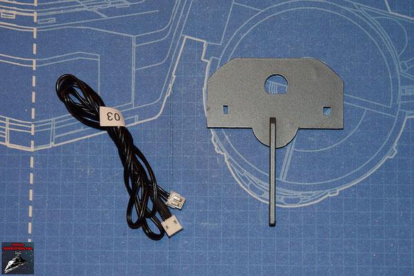 DeAgostini Bau deinen X-Wing Ausgabe 28 Interne Trennwand (Kunststoff) und Kabel für die Laserkanone