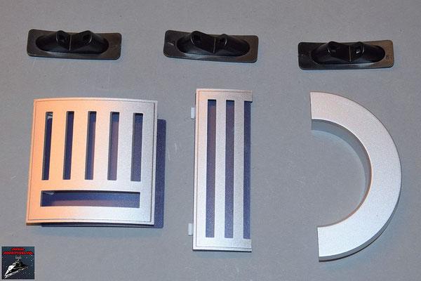 Build your own R2-D2 Ausgabe 74 Schulterstück, Details für den Rumpf und Verbindungsstücke (Kunststoff)