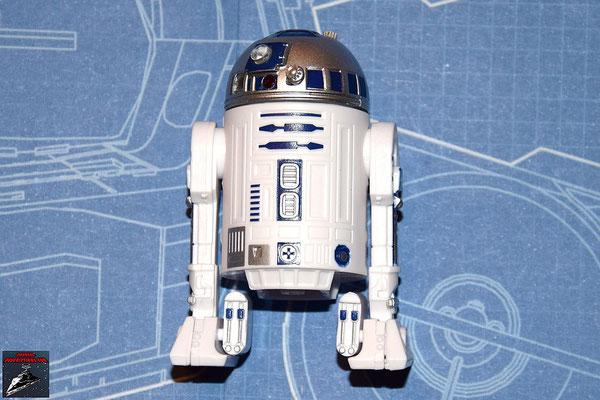 DeAgostini Bau deinen X-Wing Ausgabe 4 R2-D2: Die Linsen werden in die Öffnungen gedrückt. Die Kuppel wird auf die Spidel gedrückt und die Frontplatte auf die Rückenplatte gedrückt