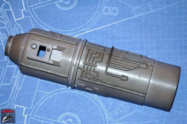 DeAgostini Bau deinen X-Wing Ausgabe 13 Die 7 Anbaudetails werden an der unteren Hälfte des Fusionstriebwerksgehäuse befestigt