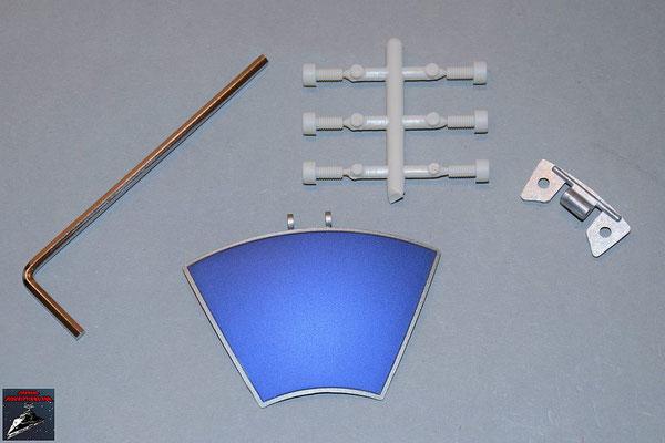 Build your own R2-D2 Ausgabe 64 Kuppelteil mit Scharnier (Metall) und Stabilisatoren