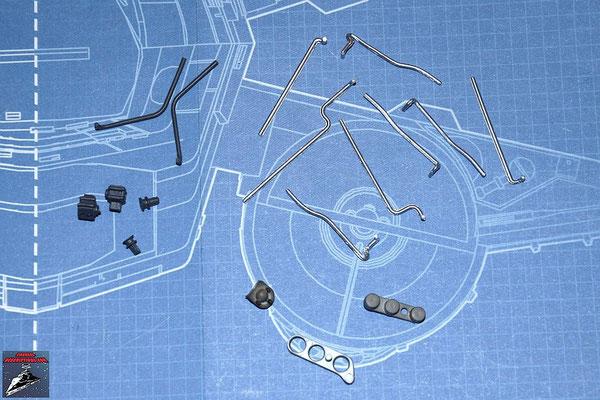 DeAgostini Bau deinen X-Wing Ausgabe 16 Rohrleitungen für den Energieverteiler und Anbaudetails (Kunststoff)