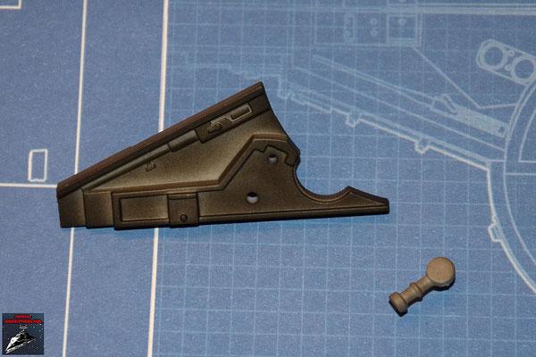 DeAgostini Bau deinen X-Wing Ausgabe 22 Detail und, Verbindungsstück unterer Sublichtantrieb (Kunststoff)