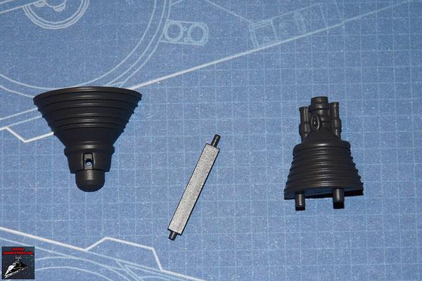 DeAgostini Bau deinen X-Wing Ausgabe 11 Gyroskop, obere und untere Hälfte und Kühlflügel