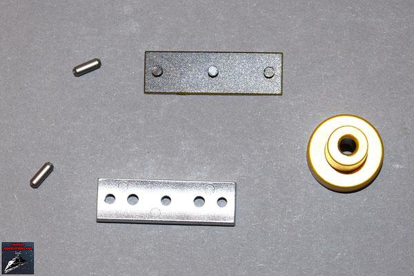 Build your own R2-D2 Ausgabe 41 Lichtschwert: Verbindungsstifte, Aktivator-Halterung und Aktivator und Stabilisierungsring