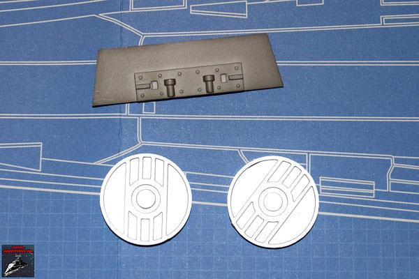 DeAgostini Bau deinen X-Wing Ausgabe 21 Energiekupplungen und Kanonenhalterung (Kunststoff)