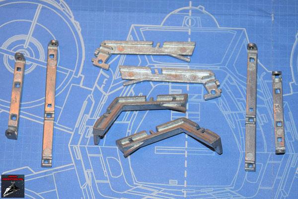 DeAgostini Bau deinen X-Wing Ausgabe 73 Verstärkungen und Streben für den Laderaum (Metall)