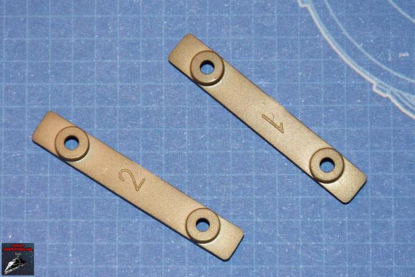 DeAgostini Bau deinen X-Wing Ausgabe 24 Zwei Scharniere (Kunststoff)