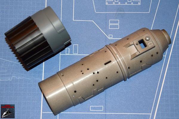 DeAgostini Bau deinen X-Wing Ausgabe 27 Fusionstriebwerkgehäuse, untere Hälfte / Schubdüse (Kunststoff)