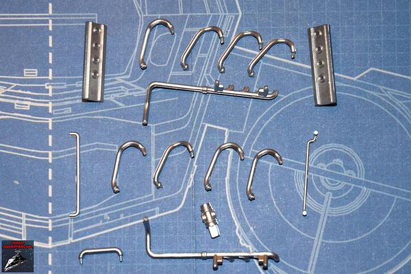 DeAgostini Bau deinen X-Wing Ausgabe 29 Rohrleitungen für den Engerieverteiler (Kunststoff)