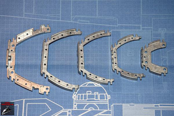 DeAgostini Bau deinen X-Wing Ausgabe 34 Querträger für den Rumpfrahmen (Metall)