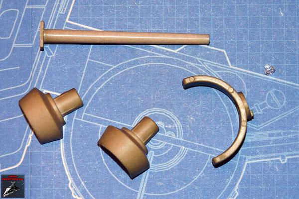 DeAgostini Bau deinen X-Wing Ausgabe 20 Rückstoßdämpfer Halterunf, Emitter und Rückstoßdämpfer (Kunststoff)