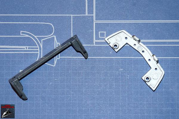 DeAgostini Bau deinen X-Wing Ausgabe 33 Mittlere und vordere untere Querstrebe für den Rumpf (Metall)