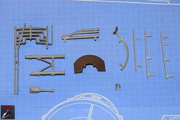 DeAgostini Bau deinen X-Wing Ausgabe 55 Anbaudetails für die obere Hälfte Fusionstriebwerksgehäuse (Kunststoff)