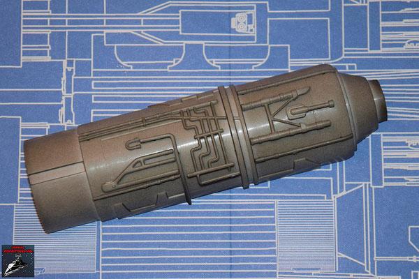 DeAgostini Bau deinen X-Wing Ausgabe 42 Die neun Anbaudetails werden an der Außenseite der oberen Hälfte des Fusionstriebwerkgehäuses befestigt