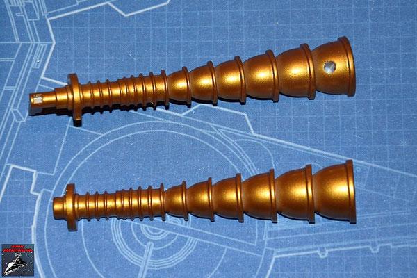 DeAgostini Bau deinen X-Wing Ausgabe 16 Die beiden Hälften des Reaktandeinspritzers (Kunststoff)