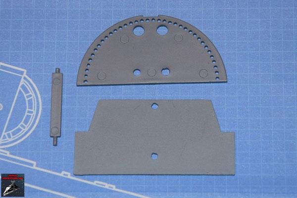 DeAgostini Bau deinen X-Wing Ausgabe 54 Untere Abdeckplatte, horizontale Schaufel, Kühlflügel (Kunststoff)