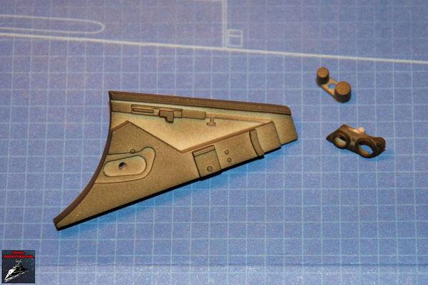 Bau Deinen X-Wing Ausgabe 40 Verbindungsstück mit Details (Kunststoff)