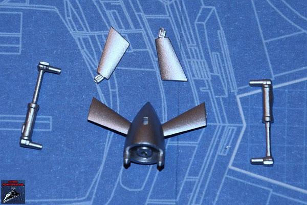 DeAgostini Bau deinen X-Wing Ausgabe 12 Turboimpeller und 2 Turboimpellerflügel