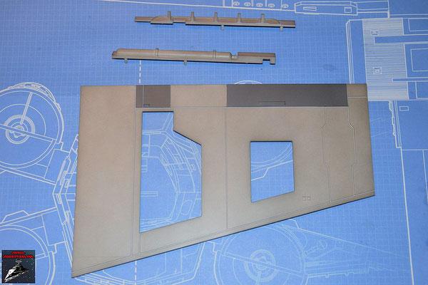 DeAgostini Bau deinen X-Wing Ausgabe 61 Untere Flügelverkleidung (Kunststoff) und äußeres und inneres Einfassband (Kunststoff)
