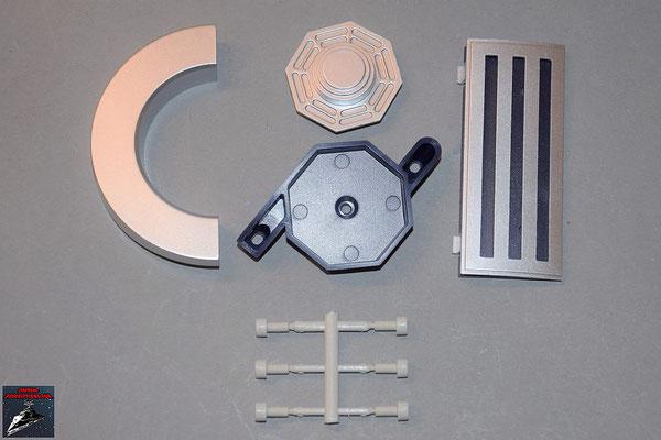 Build your own R2-D2 Ausgabe 76 Schulterplatte, Anbausetails für den Rumpf und Stabilisatoren für die Kuppel (Kunststoff)