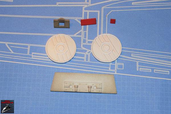 DeAgostini Bau deinen X-Wing Ausgabe 51 Details, Energiekupplungen und Halterung Laserkanone (Kunststoff)