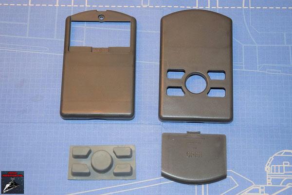 DeAgostini Bau deinen X-Wing Ausgabe 67 Fernbedienung Gehäuse, Kontrollknöpfe und Batterieabdeckung