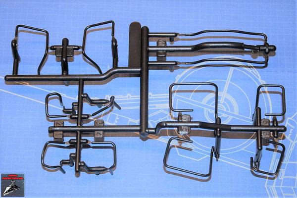DeAgostini Bau deinen X-Wing Ausgabe 78 Verbindungsrohre (Kunststoff)