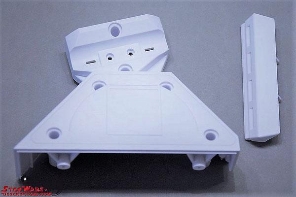 Build your own R2-D2 Ausgabe 90 rechte Hälfte des Mittelfußes und Stoßstange