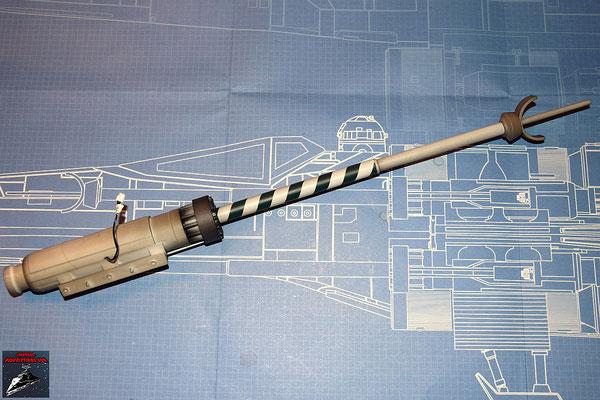 DeAgostini Bau deinen X-Wing Ausgabe 34 Die Einzelteile der oberen Backbord-Laserkanone werden zusammengesetzt
