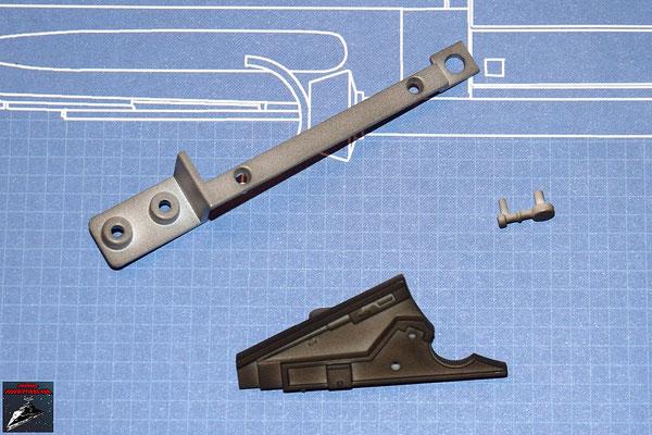 DeAgostini Bau deinen X-Wing Ausgabe 9 Detail, Verbindungsstück, Metallwinkel oberer Sublichtantrieb