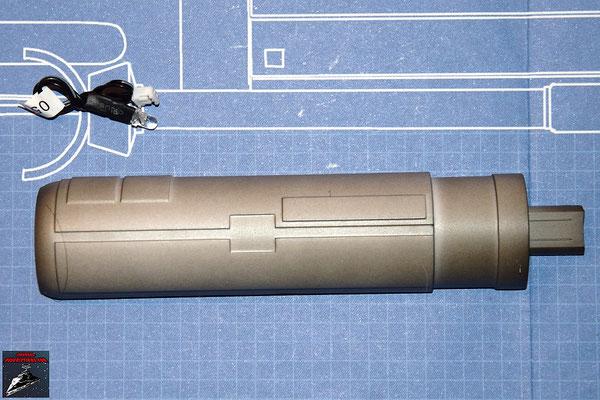 DeAgostini Bau deinen X-Wing Ausgabe 33 Gehäuse innere Hälfte (Kuststoff) und LED Für den Lasergenerator