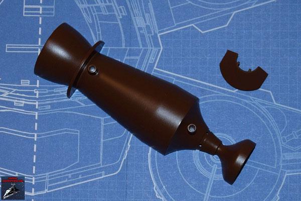 DeAgostini Bau deinen X-Wing Ausgabe 25 Fusionskammer, obere Hälfte und Fusionskammer-Befestigung (Kunststoff)