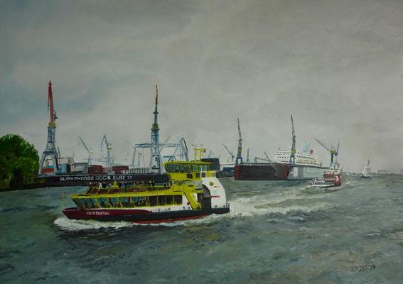 HADAG-schiff im Hamburger Hafen - P.a.A.