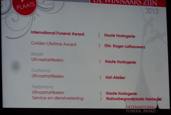 die Gewinner aus Belgien, den Niederlanden und Deutschland