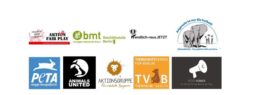 Unterstützende Teirschutzvereine/-orgas