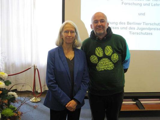 Verleihung Berliner Tierschutzpreis 2017 - Claudia Hämmerling, Trägerin des Tierschutzehrenpreises 2017