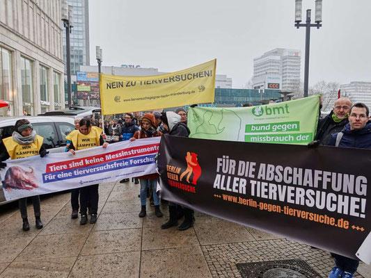 Tierrechtsdemo in Berlin Februar 2019