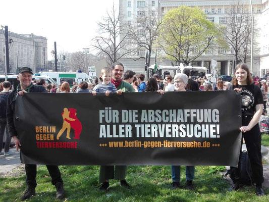 Tierrechtsdemo in Berlin April 2019