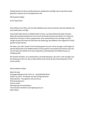 """Offener Brief an """"Die Linke"""""""