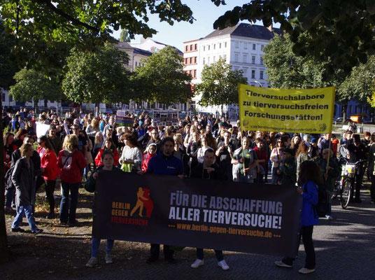Demo - Berlin sagt NEIN zu Tierversuchen! am 29.09.18 in Berlin