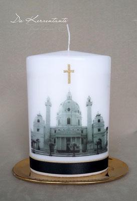 T9 - Karlskirche, Ovalkerze 20x13x7cm, Preis: EUR 70,00