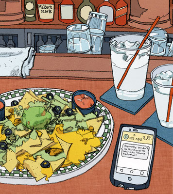 "LA Times - ""I watched my OKCupid date implode - over nachos"""