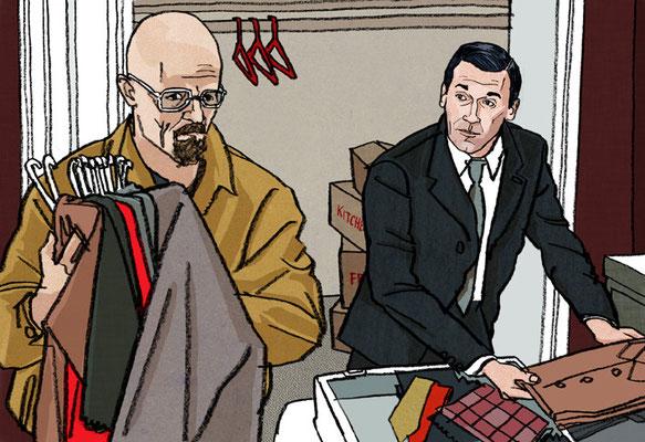 The Hollywood Reporter - AMC (Don Draper & Walter White)