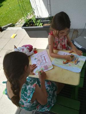 سارینا (هشت ساله) و اوین (شش ساله)