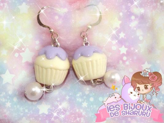 Boucles d'oreilles cupcakes