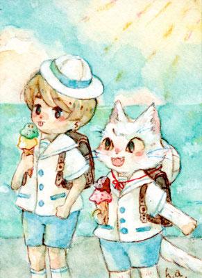 ēcole de ange  の夏の帰り道