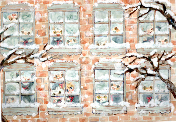 ēcole de ange  の雪が降った日